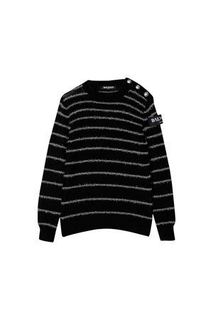 Balmain kids black sweater  BALMAIN KIDS | 7 | 6L9030LA910930BC