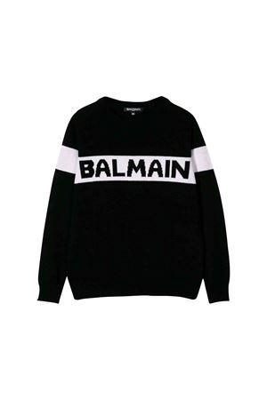 Maglione nero bambino Balmain kids BALMAIN KIDS | 7 | 6L9510LA510930