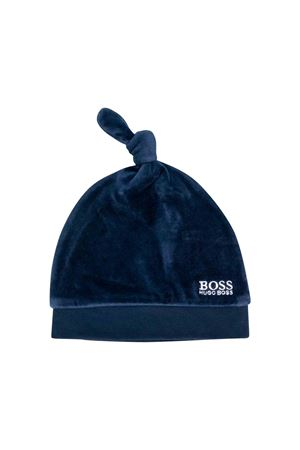 Boss kids blue velvet cap  BOSS KIDS | 75988881 | J91093849