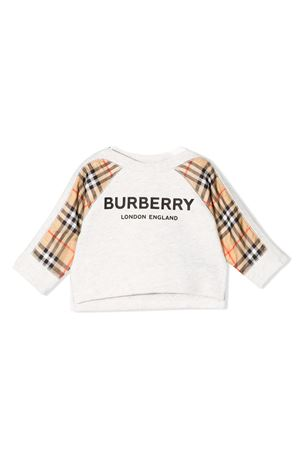 Burberry kids white newborn sweatshirt  BURBERRY KIDS | -108764232 | 8011012A4807