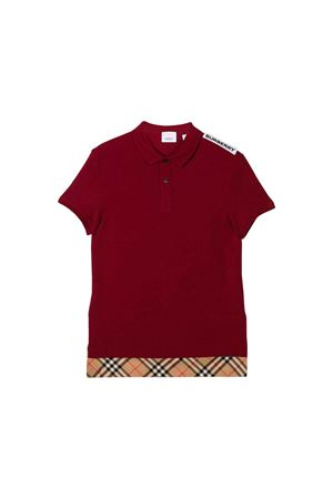 DARK RED POLO BURBERRY KIDS  BURBERRY KIDS | 11 | 8011447A1197