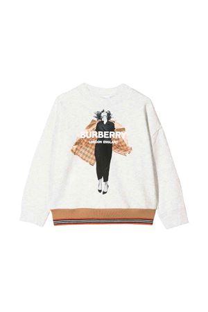 Gray Burberry kids girl sweatshirt  BURBERRY KIDS | -108764232 | 8011678A4807