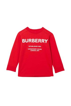 Red Burberry kids sweatshirt  BURBERRY KIDS | -108764232 | 8012763A1460