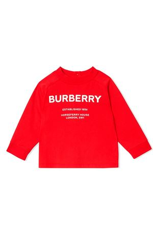 Burberry kids red baby sweatshirt  BURBERRY KIDS | -108764232 | 8012789A1460