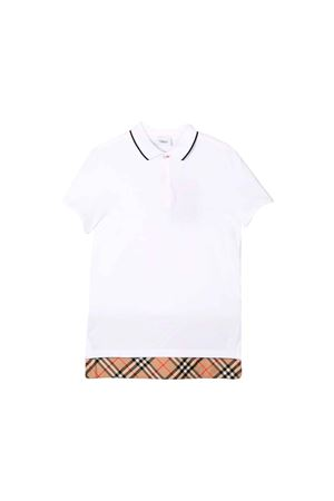 POLO BIANCA BAMBINO BURBERRY KIDS BURBERRY KIDS | 8 | 8013597A1464