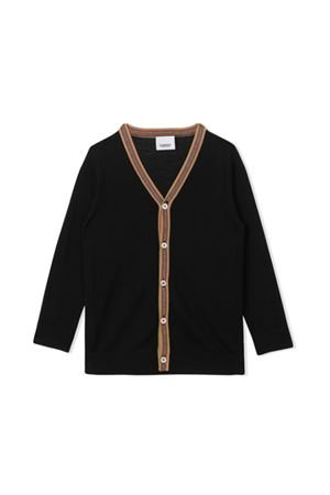 CARDIGAN NERO BAMBINO BURBERRY KIDS BURBERRY KIDS | 17 | 8013700A1189