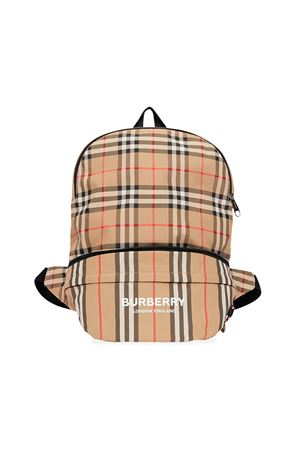 Burberry kids tartan backpack BURBERRY KIDS | 279895521 | 8013921A7028