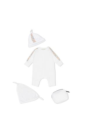 Burberry kids white baby kit  BURBERRY KIDS | 75988882 | 8014073A1464