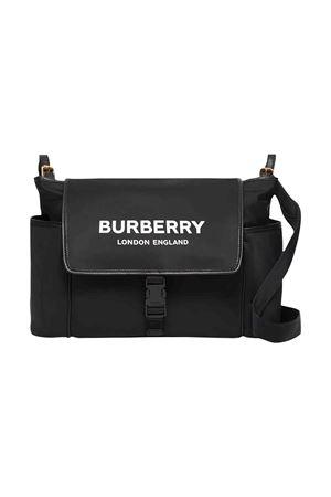 Borsa nera con tracolla e logo bianco frontale Burberry kids BURBERRY KIDS | 31 | 8014365A1189