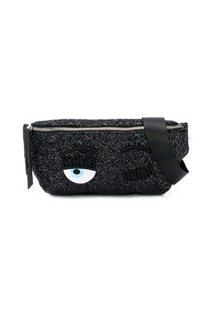 Marsupio Winking Eye nero glitter Chiara Ferragni kids CHIARA FERRAGNI KIDS | -962723037 | CFBB007NERO