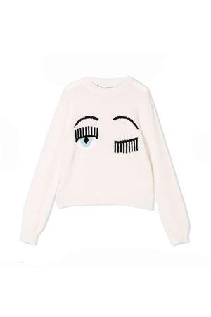 Maglione bianco con stampa flirting Chiara Ferragni kids CHIARA FERRAGNI KIDS | 7 | CFKJM002PANNA