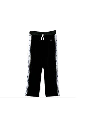Pantaloni teen neri con bande laterali logate Chiara Ferragni kids CHIARA FERRAGNI KIDS   9   CFKP006NEROT