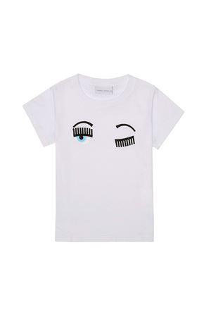 T-shirt bianca con stampa flirting Chiara Ferragni kids CHIARA FERRAGNI KIDS   8   CFKT005BIANCO
