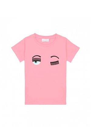 T-shirt rosa con stampa flirting Chiara Ferragni kids CHIARA FERRAGNI KIDS | 8 | CFKT005ROSA