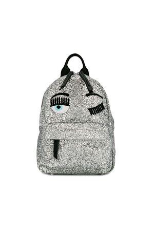Zaino Winking Eye argento glitter Chiara Ferragni kids CHIARA FERRAGNI KIDS | 279895521 | CFZ004ARGENTO