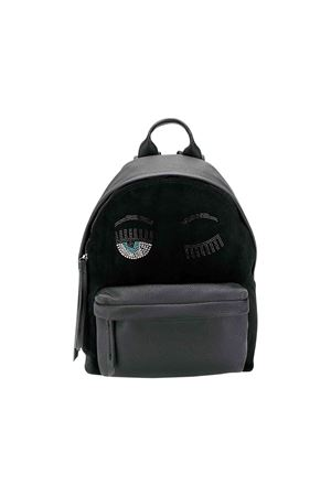 Chiara Ferragni kids black and gray backpack  CHIARA FERRAGNI KIDS | 279895521 | CFZ039NERO