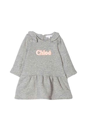 CHLOÈ KIDS NEWBORN GRAY DRESS  CHLOÉ KIDS | -675681197 | C02237A38