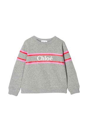 GRAY SWEATSHIRT CHLOÉ KIDS  CHLOÉ KIDS | -108764232 | C15A71A38