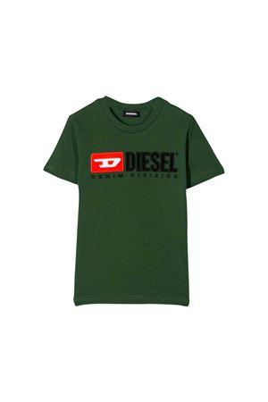 T-shirt verde con logo frontale Diesel kids DIESEL KIDS | 5032319 | 00J47V00YI9K50L