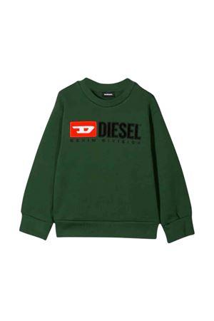 Military green Diesel Kids sweatshirt  DIESEL KIDS | -108764232 | 00J48E0IAJHK50L