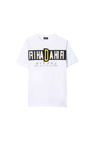 White Diesel Kids T-shirt  DIESEL KIDS | 7 | 00J4FW0091BK100