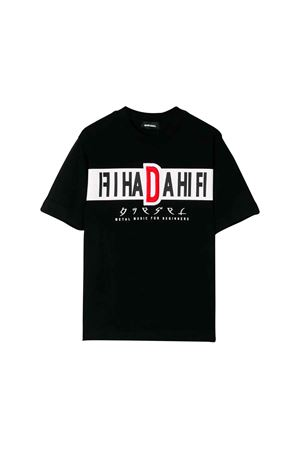 T-shirt nera Diesel Kids teen DIESEL KIDS | 7 | 00J4FW0091BK900T