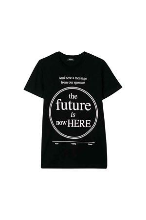 T-shirt nera Diesel kids teen DIESEL KIDS | 7 | 00J4FY0091BK900T