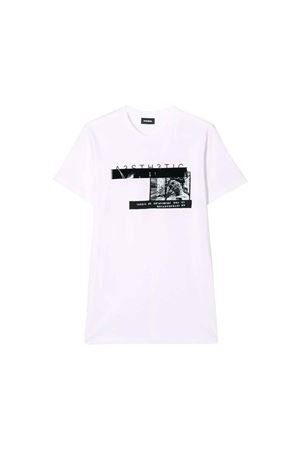 T-shirt bianca bambino Diesel Kids teen DIESEL KIDS | 7 | 00J4G20CATMK100T