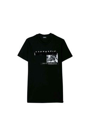 T-shirt nera bambino Diesel Kids teen DIESEL KIDS | 7 | 00J4G20CATMK900T
