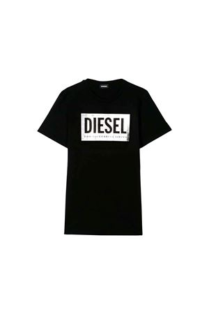 BLACK T-SHIRT KIDS DIESEL KIDS  DIESEL KIDS | 7 | 00J4IE0LAKYK900