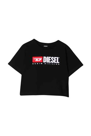 Black Diesel kids teen t-shirt  DIESEL KIDS | 7 | 00J4IG00YI9K900T