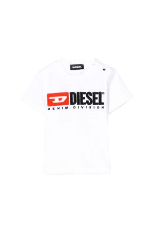 WHITE T-SHIRT WITH DIESEL KIDS LOGO  DIESEL KIDS | 7 | 00K1YW00YI9K100