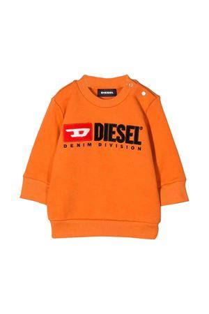 Orange Diesel kids newborn sweatshirt  DIESEL KIDS | -108764232 | 00K1Z70IAJHK262