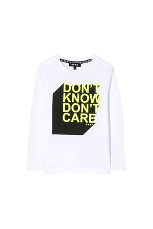 White DKNY Kids teen t-shirt  DKNY KIDS | 8 | D25C5710BT
