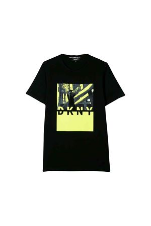 Black DKNY kids teen t-shirt  DKNY KIDS | 8 | D25C5909BT