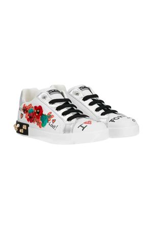 Dolce and Gabbana kids white sneakers  Dolce & Gabbana kids | 12 | D10806AS983HWF57