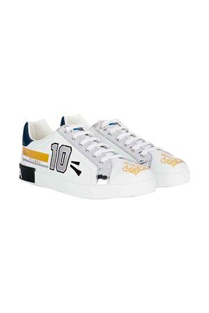 White Dolce and Gabbana kids white sneakers  Dolce & Gabbana kids | 12 | DA0678AA349HWF57