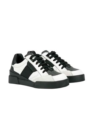 White and black sneakers Dolce and Gabbana kids teen Dolce & Gabbana kids | 12 | DA0752AA18989697T
