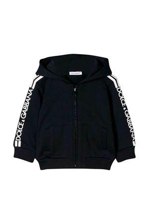 con zipFelpa nera neonato Dolce e Gabbana kids Dolce & Gabbana kids | 5032280 | L1JW5WG7SSXB3681
