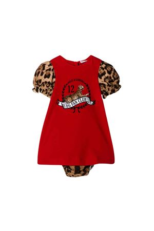 Red Dolce e Gabbana kids newborn dress  Dolce & Gabbana kids | 11 | L2JD1BG7TDBS9000