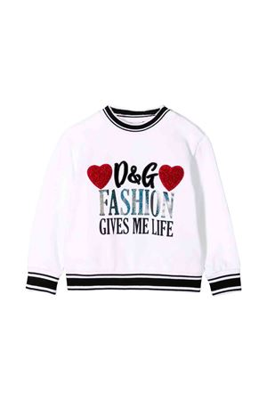 White newborn Dolce and Gabbana kids sweatshirt  Dolce & Gabbana kids | -108764232 | L2JW1HG7TBNW0800