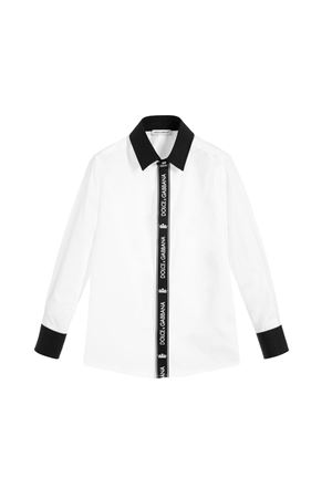 WHITE AND BLACK DOLCE&GABBANA SHIRT Dolce & Gabbana kids | 5032334 | L42S98G7SVCW0800