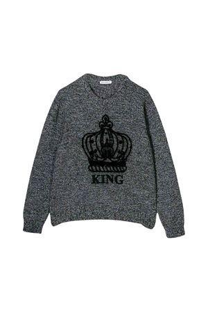 Pullover grigio melange bambino Dolce e Gabbana kids Dolce & Gabbana kids | -1384759495 | L4KW41JAMYKS9000
