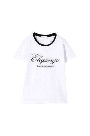 White Dolce and Gabbana kids t-shirt  Dolce & Gabbana kids | 8 | L5JT9RG7VATW0800