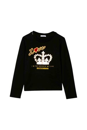 Dolce and Gabbana kids black sweater  Dolce & Gabbana kids | 8 | L5JTAYG7TBVN0000