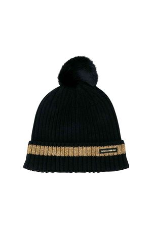 Dolce and Gabbana kids black wool cap  Dolce & Gabbana kids | 75988881 | LBKH29JAVQXN0000