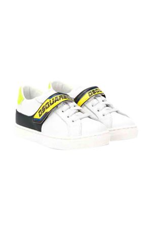 White sneakers with yellow and black details Dsquared2 kids DSQUARED2 KIDS | 12 | 62288BIANCO
