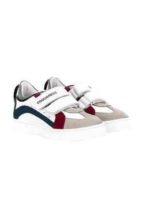 White sneakers with red and blue details Dsquared2 kids DSQUARED2 KIDS | 12 | 622953