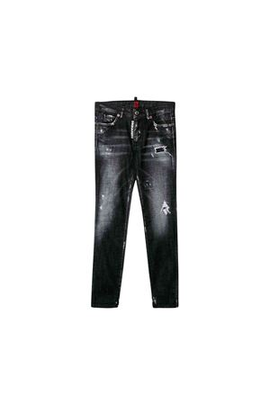 Jeans in black denim girl Dsquared2 kids  DSQUARED2 KIDS | 9 | DQ01DXD00VKDQ02
