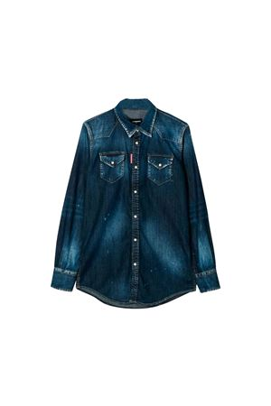 Camicia in denim scuro Dsquared2 kids teen DSQUARED2 KIDS | 6 | DQ02DGD00VLDQ01T